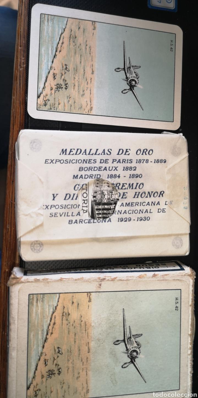 Barajas de cartas: Baraja de cartas sin estrenar de Heraclio Fournier, creo que es de los años 30 - Foto 2 - 179957682