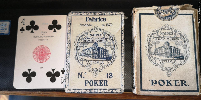 BARAJA DE CARTAS SIN ESTRENAR DE HERACLIO FOURNIER, CREO QUE ES DE LOS AÑOS 30 (Juguetes y Juegos - Cartas y Naipes - Barajas de Póker)