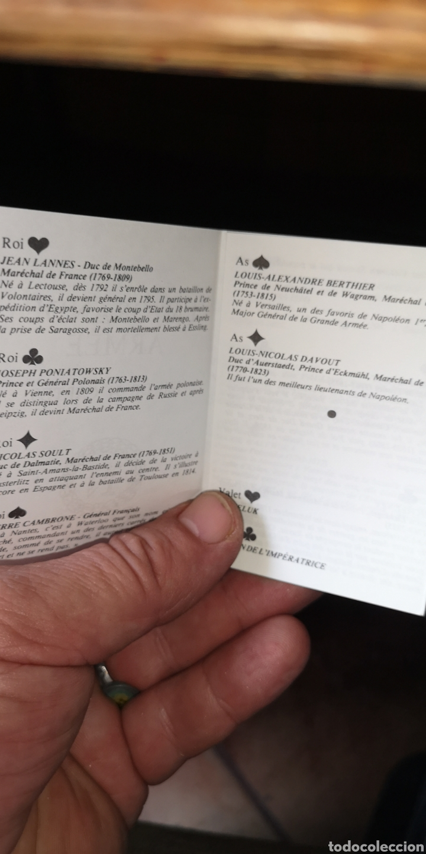 Barajas de cartas: Baraja de cartas de póker francesas napoleónicas, la Grande Armee - Foto 2 - 179958028