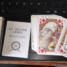 Barajas de cartas: BARAJA DE CARTAS DE PÓKER FRANCESAS NAPOLEÓNICAS, LA GRANDE ARMEE. Lote 179958028