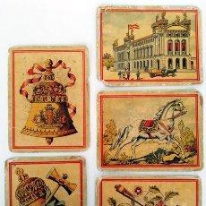 Barajas de cartas: LOTE DE 5 CARTAS DE BARAJA ANTIGUA. Lote 180015733