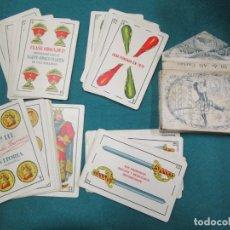 Barajas de cartas: BARAJA ESPAÑOLA, TAMAÑO GIGANTE NAIPES HERACLIO FOURNIER Nº 111 OPACA MARFIL 1 HOJA, EXCELENTE, CAJA. Lote 180017870