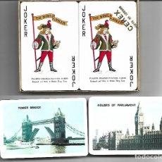 Barajas de cartas: CAJA CON PAREJA DE BARAJAS INGLESA PARA BRIDGE NUEVAS PERFECTAS. Lote 180020231