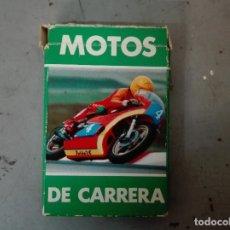 Barajas de cartas: BARAJA MOTOS DE CARRERAS, HERACLIO FOURNIER AÑO 1980, ENVÍO GRATIS, COMPLETA. Lote 180014407