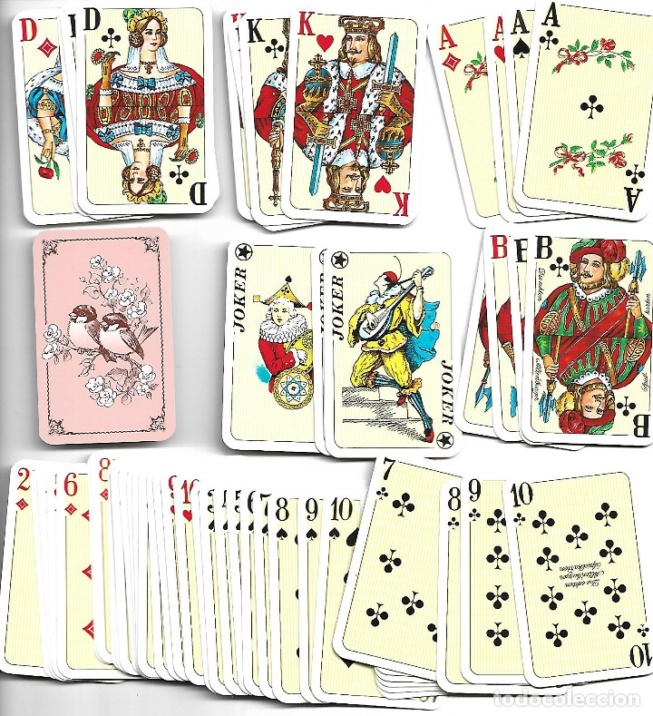 CAJA CON MUY RARA PAREJA DE BARAJAS ALEMANAS CON LIBRITO EN PERFECTO ESTADO VER FOTOS (Juguetes y Juegos - Cartas y Naipes - Barajas de Póker)
