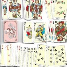 Barajas de cartas: CAJA CON MUY RARA PAREJA DE BARAJAS ALEMANAS CON LIBRITO EN PERFECTO ESTADO VER FOTOS. Lote 180020810