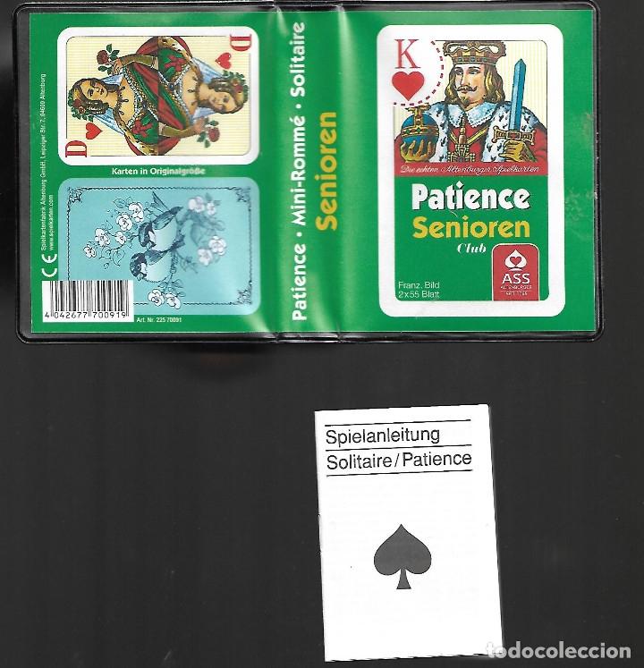 Barajas de cartas: CAJA CON MUY RARA PAREJA DE BARAJAS ALEMANAS CON LIBRITO EN PERFECTO ESTADO VER FOTOS - Foto 3 - 180020810
