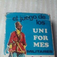 Barajas de cartas: BARAJA FOURNIER EL JUEGO DE LOS UNIFORMES MILITARES (COMPLETA) EDICIONES RECREATIVAS AÑOS 70. Lote 180036078