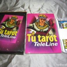 Barajas de cartas: TU TAROT. TELELINE. 22 CARTAS + LIBRO GUIA. Lote 180104441