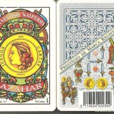 Barajas de cartas: BARAJA, AZAHAR-MAESTROS NAIPEROS Nº 117, AZUL, NUEVA, PRECINTADA. Lote 180171808