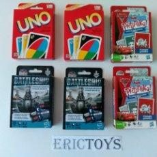 Barajas de cartas: LOTE 6 BARAJAS - UNO, PICTUREKA Y BATTLESHIP - ERICTOYS. Lote 180178520