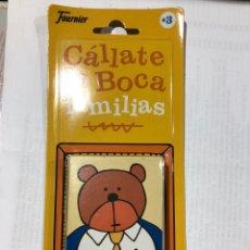 Barajas de cartas: BARAJA CÁLLATE LA BOCA FOURNIER JUEGO DE NAIPES, NUEVO SIN ABRIR!!!. Lote 180201475