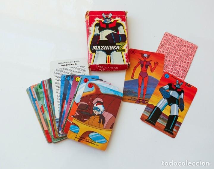 BARAJA CARTAS - NAIPES MAZINGER Z DE HERACLIO FOURNIER AÑOS 70 - COMPLETA (Juguetes y Juegos - Cartas y Naipes - Barajas Infantiles)