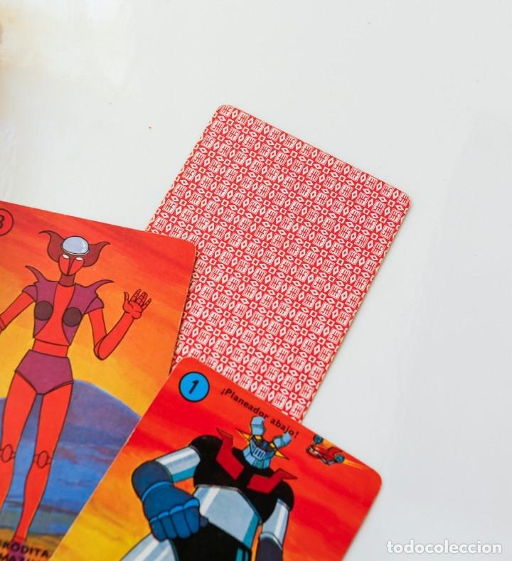 Barajas de cartas: Baraja cartas - naipes MAZINGER Z de HERACLIO FOURNIER AÑOS 70 - Completa - Foto 3 - 180232307