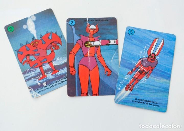 Barajas de cartas: Baraja cartas - naipes MAZINGER Z de HERACLIO FOURNIER AÑOS 70 - Completa - Foto 6 - 180232307