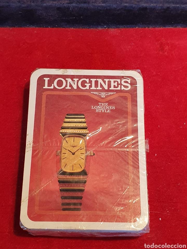VIEJAS BARAJAS / CARTAS DE POKER DE PUBLICIDAD DE LONGINES (Juguetes y Juegos - Cartas y Naipes - Barajas de Póker)