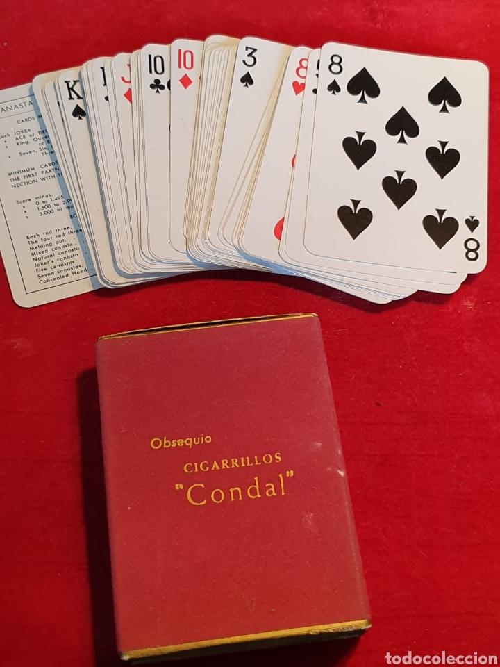 Barajas de cartas: Viejas cartas / barajas de poker publicitarias de cigarrillos Condal - Foto 2 - 180427346