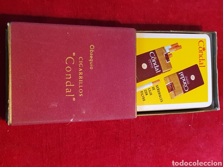 Barajas de cartas: Viejas cartas / barajas de poker publicitarias de cigarrillos Condal - Foto 3 - 180427346