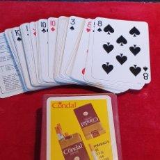 Barajas de cartas: VIEJAS CARTAS / BARAJAS DE POKER PUBLICITARIAS DE CIGARRILLOS CONDAL. Lote 180427346