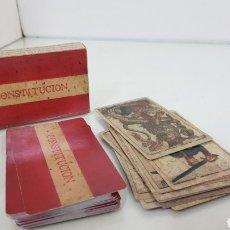 Barajas de cartas: RARO CARTAS DE LA CONSTITUCIÓN ESPAÑOLA NAIPE DE 48 CARTAS LA CONSTITUCIÓN DE CÁDIZ. Lote 180467938