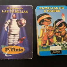 Mazzi di carte: BARAJA CARTAS EL JUEGO DE LAS FAMILIAS DE 8 PAÍSES.EL MILAGRO DE P TINTO.FOURNIER. Lote 180476817