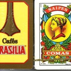 Barajas de cartas: CAFES BRASILIA - BARAJA ESPAÑOLA 50 CARTAS. Lote 180491850