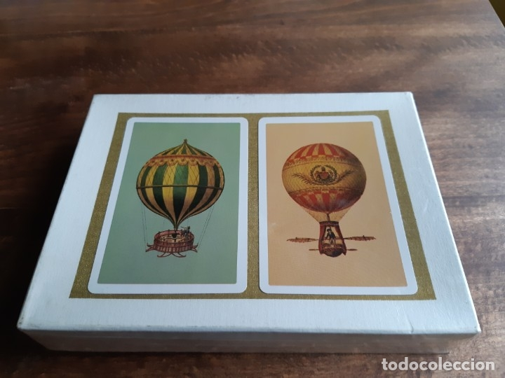 ESTUCHE 2 BARAJAS PÓKER FOURNIER, REVERSO GLOBOS ESTUCHE CONTENIENDO 2 BARAJAS DE PÓKER, (Juguetes y Juegos - Cartas y Naipes - Barajas de Póker)