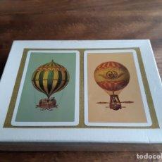 Barajas de cartas: ESTUCHE 2 BARAJAS PÓKER FOURNIER, REVERSO GLOBOS ESTUCHE CONTENIENDO 2 BARAJAS DE PÓKER, . Lote 180502021