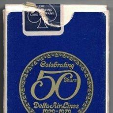 Barajas de cartas: BARAJA DE CARTAS DE POKER CELEBRATING 50 AÑOS DELTA AIR LINES 1929-1979 - BARAJACARTAS-242. Lote 180854178