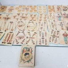 Barajas de cartas: BARAJA DE CARTAS ESPAÑOLA TAURINA DEL SIGLO 19 ASIA 1895 CON REVERSO ENVEJECIDO. Lote 180861398