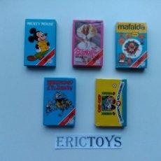 Barajas de cartas: LOTE 5 BARAJAS FOURNIER - NUEVA PRECINTADA!!! ( BARAJA MICKEY SIN PRECINTAR!!! )- ERICTOYS. Lote 180871782
