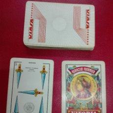Barajas de cartas: BARAJA FOURNIER VIASA, TIMBRE NEGRO, ENVÍO GRATIS. Lote 180869380