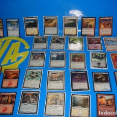 Barajas de cartas: LOTE CARTAS 30 CARTAS MAGIC THE GATHERING-TODAS DIFERENTES-17 CON FUNDA. Lote 180906068