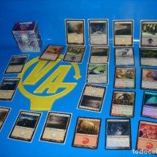 Barajas de cartas: LOTE CARTAS 23 CARTAS MAGIC THE GATHERING-ALGUNAS REPETIDAS-11 CON FUNDA + CAJA. Lote 180906085
