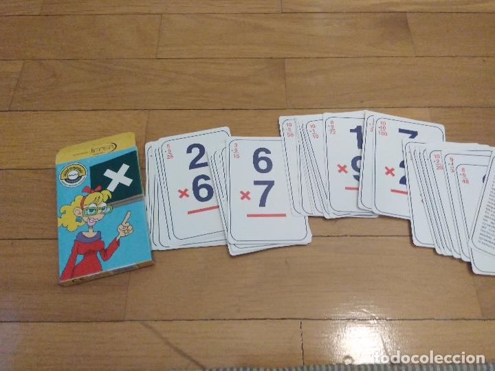 BARAJA A ESTRENAR DE MULTIPLICAR FABRICADA POR JIMASA (Juguetes y Juegos - Cartas y Naipes - Otras Barajas)