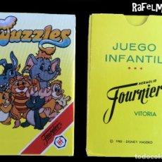 Barajas de cartas: WUZZLES - 1985 DISNEY , HASBRO - NAIPES INFANTILES FOURNIER - IMPECABLE, A ESTRENAR. Lote 236510985
