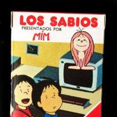 Barajas de cartas: LOS SABIOS , MIM (33 CARTAS) - NAIPES INFANTILES FOURNIER - CAJA IMPECABLE, A ESTRENAR. Lote 210359601