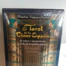 Barajas de cartas: TAROT DE LOS DIOSES EGIPCIOS. NUEVO. PRECINTADO.. Lote 181119460