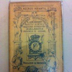 Barajas de cartas: RECREO INFANTIL- BARAJA 1888 (COMPLETA A ESTRENAR). Lote 181338870