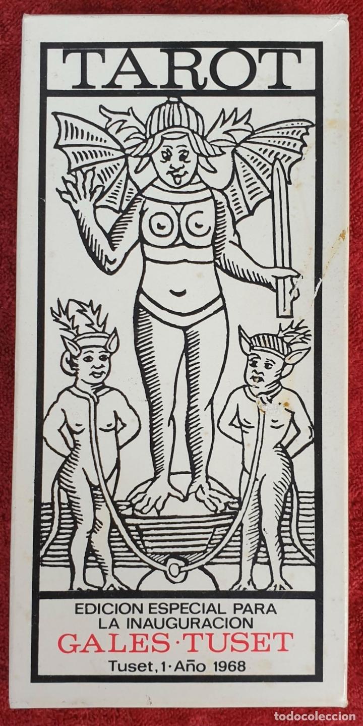 Barajas de cartas: JUEGO DE CARTAS DEL TAROT. 24 CARTAS. GRANDES ARCANOS. GALES-TUSET. 1968. - Foto 3 - 181557002