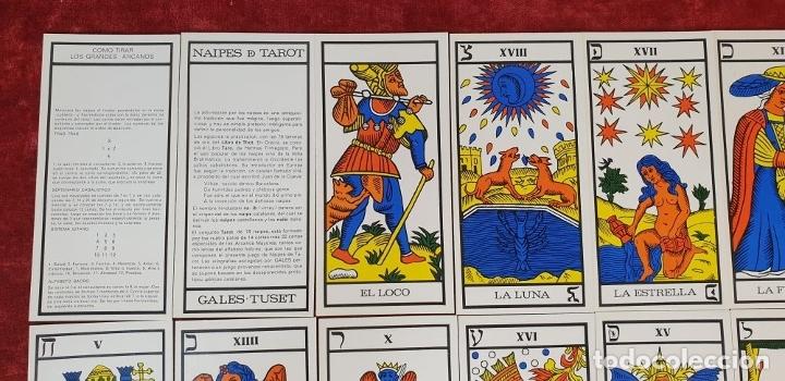 Barajas de cartas: JUEGO DE CARTAS DEL TAROT. 24 CARTAS. GRANDES ARCANOS. GALES-TUSET. 1968. - Foto 5 - 181557002