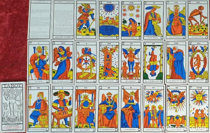 JUEGO DE CARTAS DEL TAROT. 24 CARTAS. GRANDES ARCANOS. GALES-TUSET. 1968. (Juguetes y Juegos - Cartas y Naipes - Barajas Tarot)