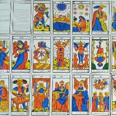 Barajas de cartas: JUEGO DE CARTAS DEL TAROT. 24 CARTAS. GRANDES ARCANOS. GALES-TUSET. 1968.. Lote 181557002