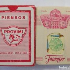 Barajas de cartas: BARAJA DE CARTAS HERACLIO FOURNIER PUBLICIDAD PIENSOS PROVIMI PRECINTADA 54 CARTAS POKER NAIPES. Lote 181775266
