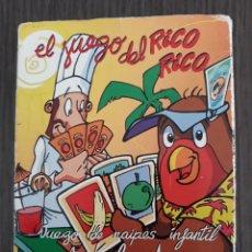 Barajas de cartas: BARAJA, EL JUEGO DEL RICO RICO, DE KARLOS ARGUIÑANO, MENU REFRESCANTE FOURNIER. Lote 181906215