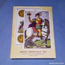 Barajas de cartas: BARAJA DE CARTAS NEOCLASICA 1810 EN EXCELENTE ESTADO. Lote 181989720