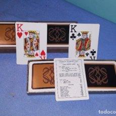 Barajas de cartas: 2 BARAJAS DE CARTAS CANASTA SCORING TABLE EN EXCELENTE ESTADO. Lote 181990245