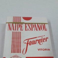 Barajas de cartas: BARAJA PRECINTADA NAIPE ESPAÑOL . HERACLIO FOURNIER - VITORIA . PROPAGANDA BRANDY FUNDADOR .. Lote 182054753