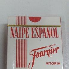 Barajas de cartas: BARAJA PRECINTADA NAIPE ESPAÑOL . HERACLIO FOURNIER - VITORIA . PROPAGANDA BRANDY FUNDADOR .. Lote 182067598