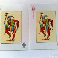 Barajas de cartas: JOKER-COMODIN+COMODIN EXTRA DE BARAJA DE CARTAS. Lote 182072861